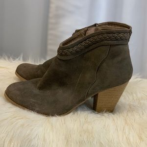 Charlotte Russe brown suede boots size 7